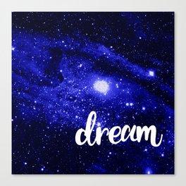 Blue Galaxy Dream Canvas Print