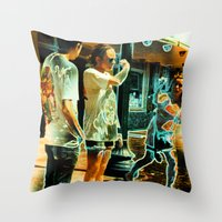 lindsay lohan Throw Pillows featuring Song For Lindsay Tee! by Eric Terino