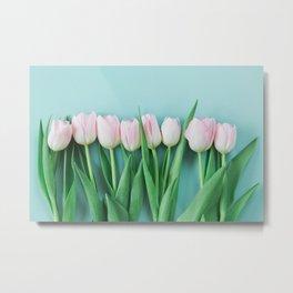 Pretty Pink Tulips Metal Print