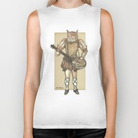 banjo Biker Tanks featuring Banjo Cat by Felis Simha