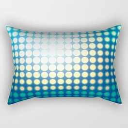 Blue Lights by Friztin Rectangular Pillow