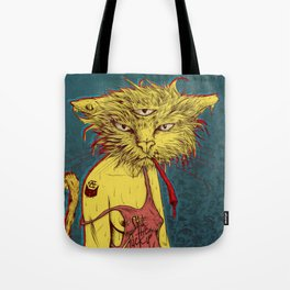 Third eye cat Tote Bag