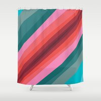 cracked Shower Curtains featuring Cracked  by K I R A   S E I L E R