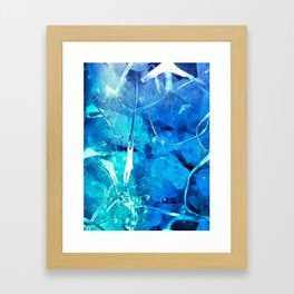 Crystal Blue Lights Framed Art Print
