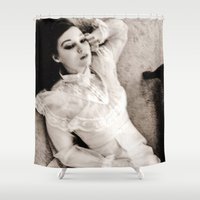 ghost Shower Curtains featuring Ghost by Hilary Dow