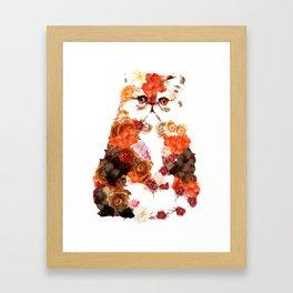 Portrait cute little kitten t-shirts Framed Art Print