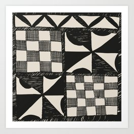 Tapa | Barkcloth | Pacifica | Pasifica | Abstract Patterns | Pacific Islands | Tribal | Ethnic | Art Print