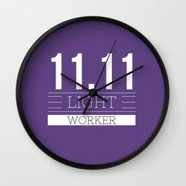 11.11 LIGHT WORKER Wall Clock