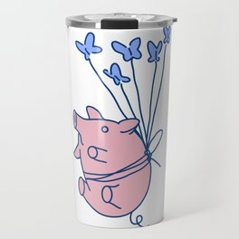 pig with balloons Travel Mug