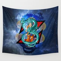 goku Wall Tapestries featuring DBZ - Goku Super Saiyan God by Mr. Stonebanks