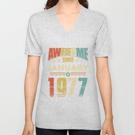 Awesome Since January 1977 T-Shirt Unisex V-Neck