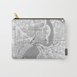 Jacksonville Map Line Carry-All Pouch
