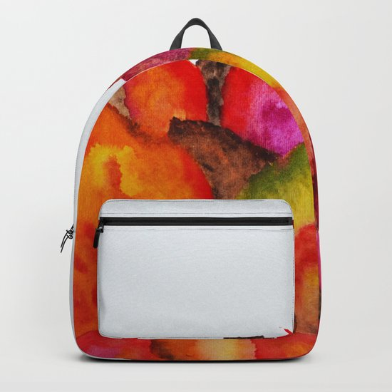 Autumn abstract watercolor 01 Backpack