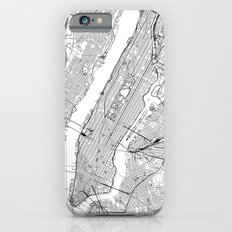 New York City White Map Slim Case iPhone 6s