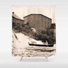 American Graphite Plant, Ticonderoga, NY 1930-42 Shower Curtain