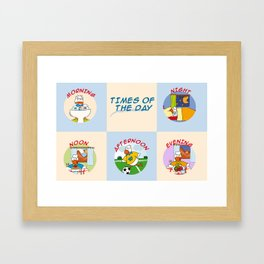 Times of the day Framed Art Print