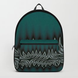 Fractal Tribal Art in Pacific Teal Backpack