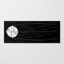 Sputnik Chalk Drawing Canvas Print
