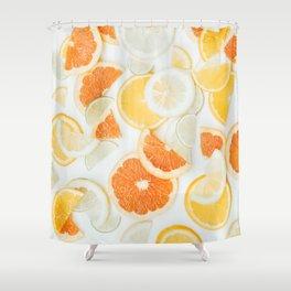 citrus fresh orange twist Shower Curtain