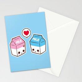 Milks in love Stationery Cards