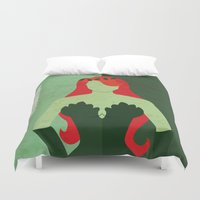 poison ivy Duvet Covers featuring Poison Ivy by Loud & Quiet