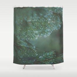 Iced Pine Shower Curtain