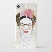 frida kahlo iPhone & iPod Cases featuring Frida Kahlo  by Marttala
