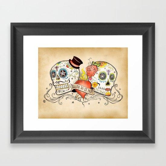Death Do Us Part Framed Art Print