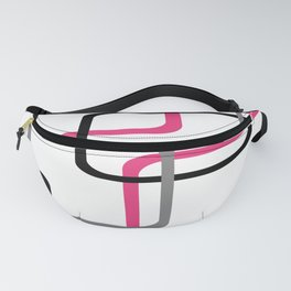 Geometric Rounded Rectangles Collage Pink Fanny Pack