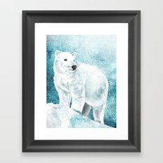The White Bear Framed Art Print
