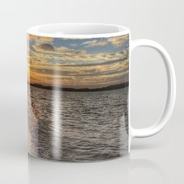 Sunbathing in the Winter time Coffee Mug