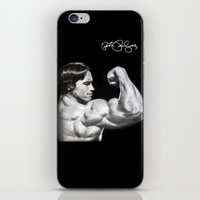 arnold iPhone & iPod Skins featuring Flexing Arnold by PeterPerlegas Fine Art