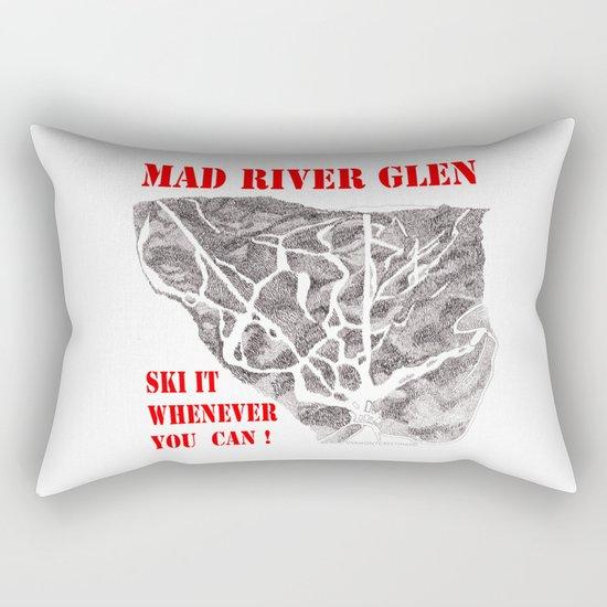 Mad River Glen Vermont, Ski Zentangle Illustration Rectangular Pillow