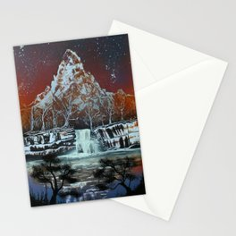 Night on the Lake Stationery Cards