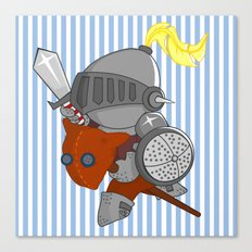 little knight in armor Canvas Print