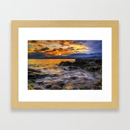 Sparkling Coast Framed Art Print
