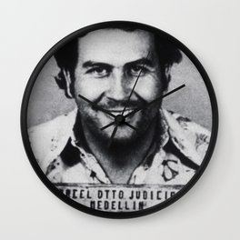 Pablo Escobar Mug Shot 1991 Vertical Wall Clock