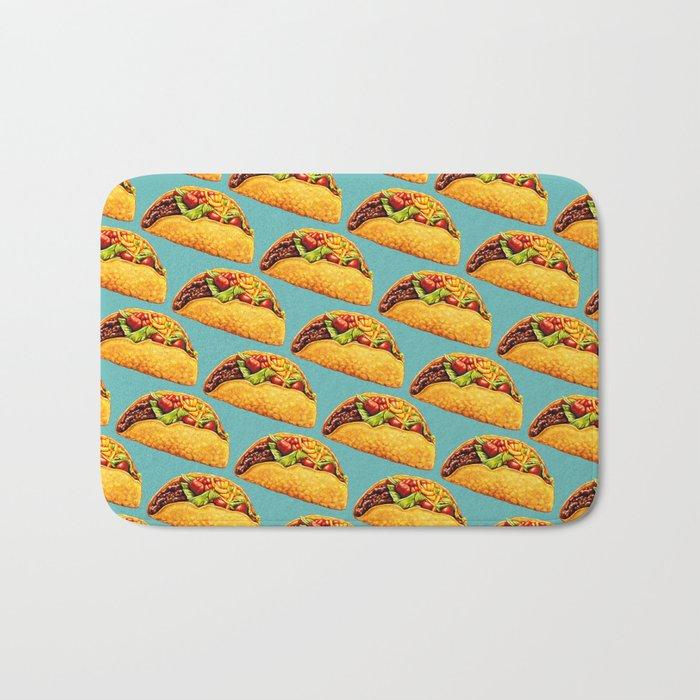 Taco Pattern Bath Mat