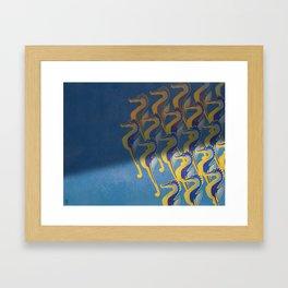 Fresco of the Seahorses. Framed Art Print