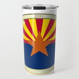 Arizona State Flag Oval Button Travel Mug