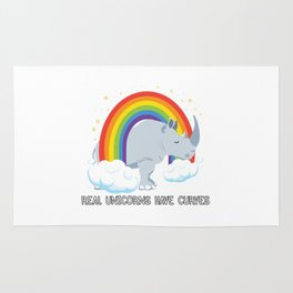 Real Unicorns Have Curves Rug