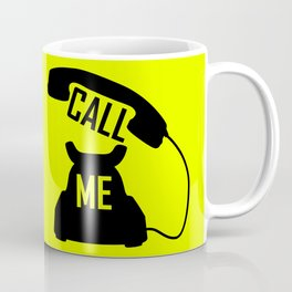 Cool Black Call me Vintage Retro telephone Coffee Mug