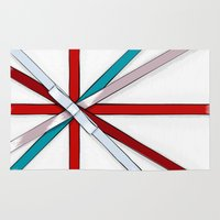 british flag Area & Throw Rugs featuring In the Honor of a British Flag by Tata