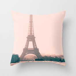Eiffel tower in the early morning Throw Pillow