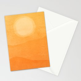 Abstract Afternoon Landscape Stationery Cards