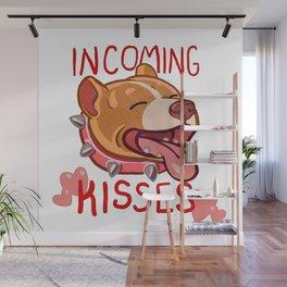 Warning: Kisses! Wall Mural