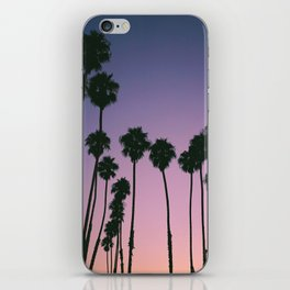 Purple Sunset Palm Trees iPhone Skin