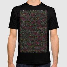 Code Master (Computer Science Nerd) Mens Fitted Tee Black MEDIUM