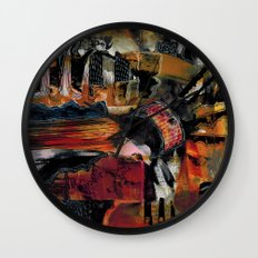 Disintegration 1 Wall Clock