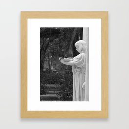 Girl Statue Framed Art Print